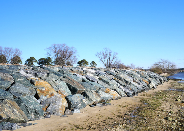 Protect your property with riprap erosion control.