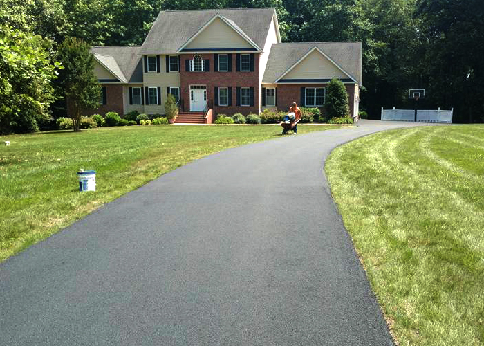 Sealcoating and striping can be added on request to any asphalt paving project.