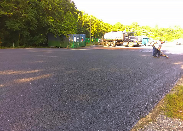 Commercial Tar and Chip Paving in Easton, MD.