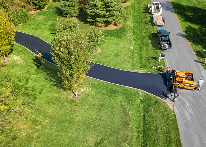 Residential asphalt paving in St Michaels, MD.