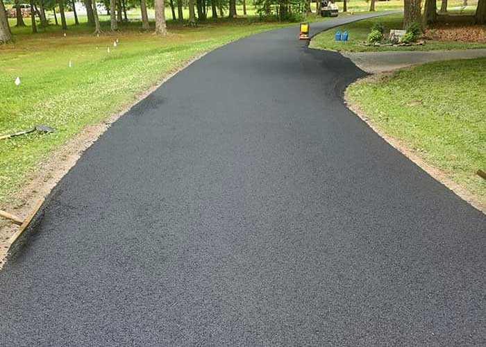 Residential asphalt paving in St Michaels, MD.